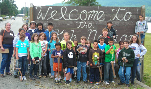 Campers from the Makah Tribe in Washington had a great time learning about harmful algal blooms from NOAA scientists.