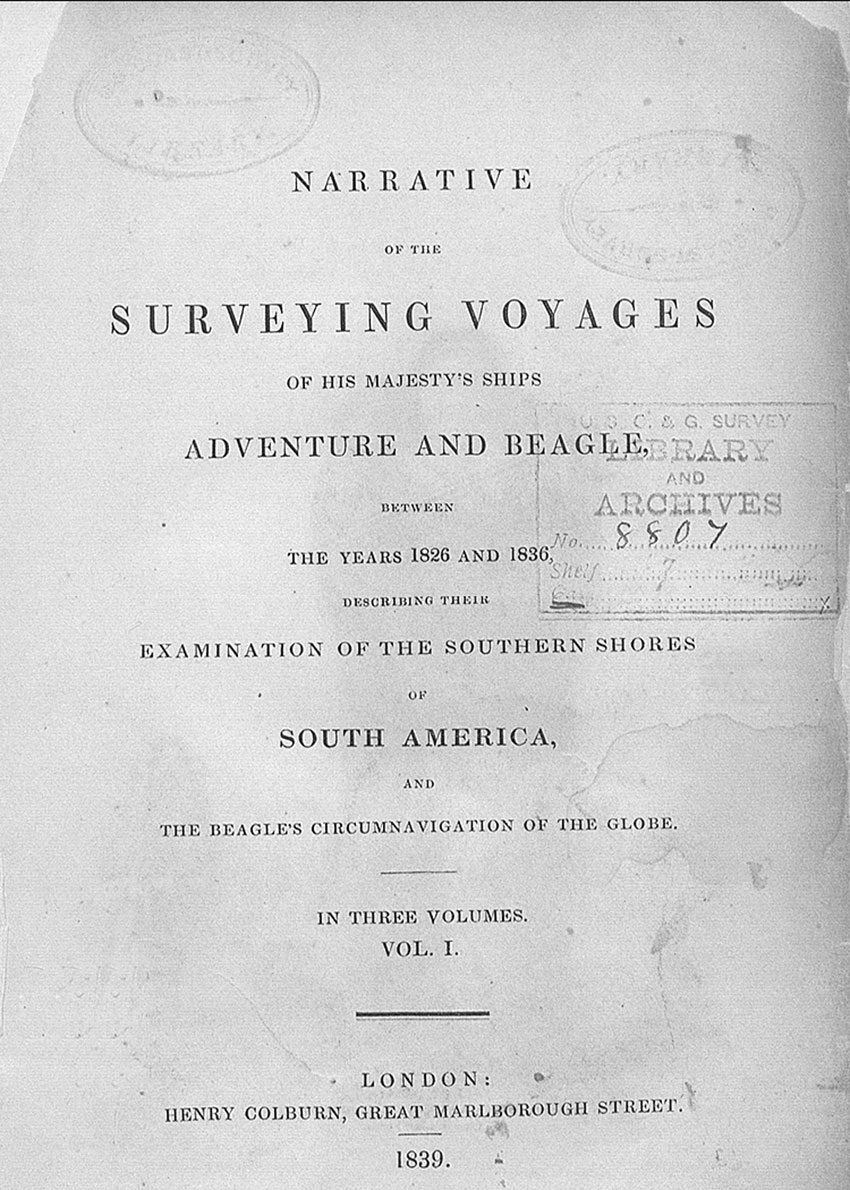 Narrative of the Surveying Voyages of His Majesty's Ships Adventure and Beagle Between the Years 1826 and 1836: Describing Their Examination of the Southern Shores of South America, and the Beagle's Circumnavigation of the Globe, 1839.