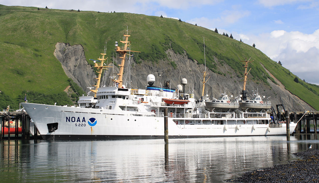 The NOAA Ship Fairweather in Kodiak, Alaska.
