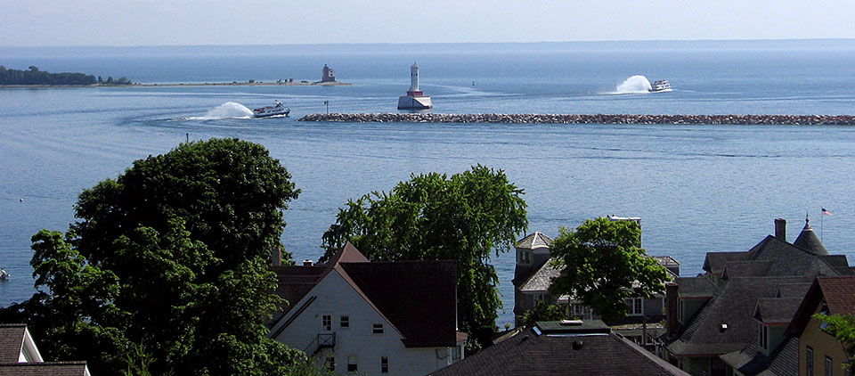 Straits of Mackinac, Mackinac Island. Photo by Jeff Lefevre. July 2008.