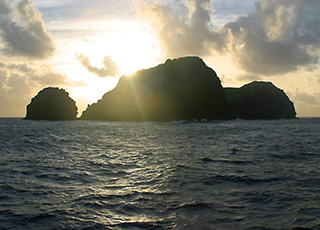 marine national monument at sunset