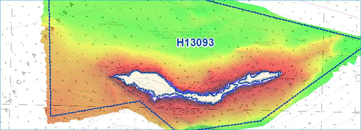 bathymetry map of Channel Islands in California