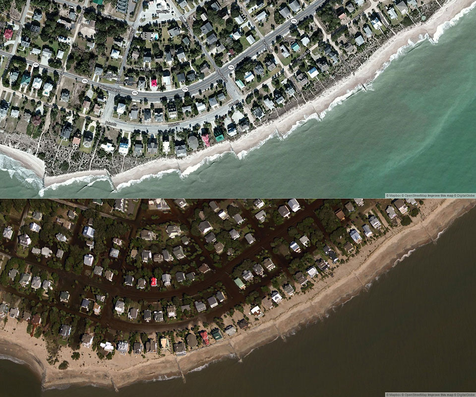 Hurricane Matthew Flooding Damage Assessment Images