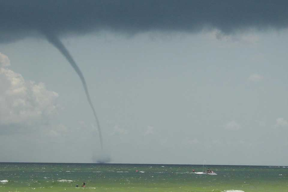 a waterspout