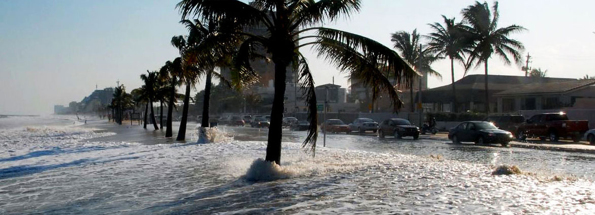 Fort Lauderdale, Florida, is at risk from rising sea levels.