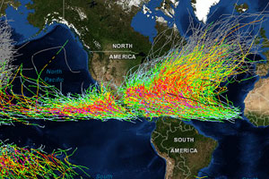 historical hurricane tracks graphic