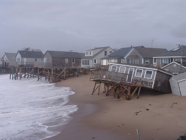 damage to beach homes following Hurricane Sandy