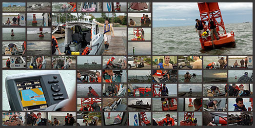 montage of NOAA in action in Mobile Bay