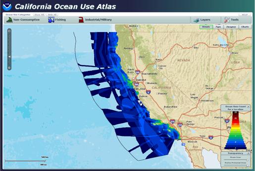 NOAA Releases Interactive California Ocean Uses Atlas Online Data - Online atlas
