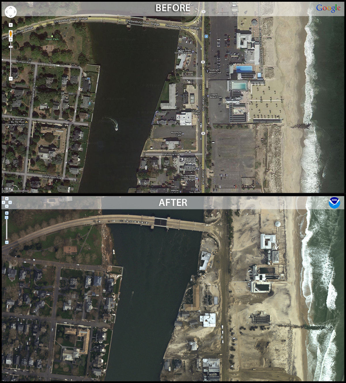 Aerial Photos Of Hurricane Sandy Damage From NOAAs National - Us coast and geodetic survey maps