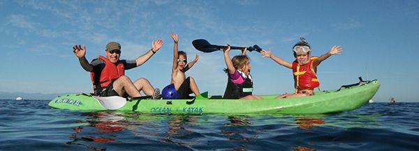children in kayak experience a national marine sanctuary