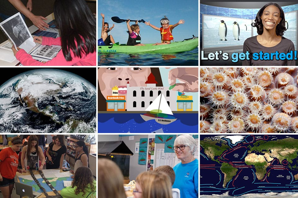 collage of education activities, events, people
