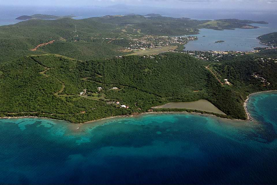 Aerial view of the island of Culebra.