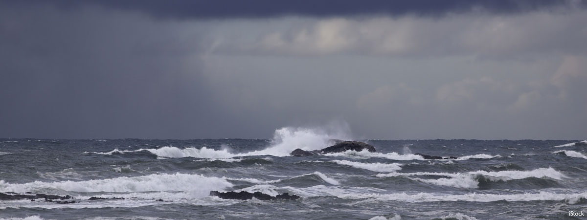 a stormy ocean, iStock image