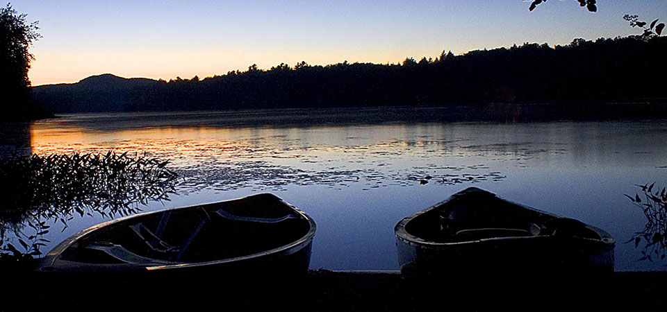 canoes on the shore; image credit: NY Department of Environmental Conservation
