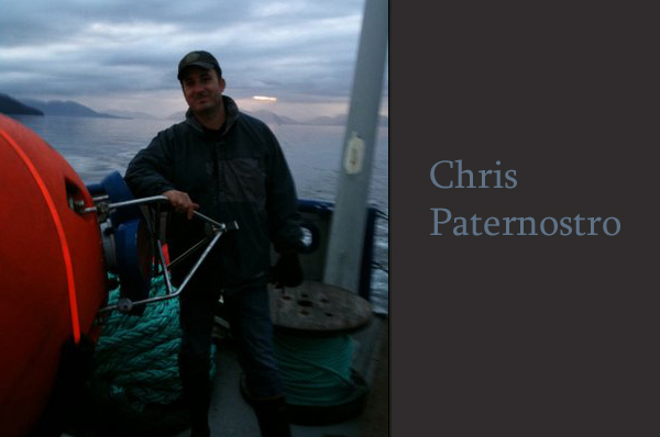 Chris Paternostro on ship