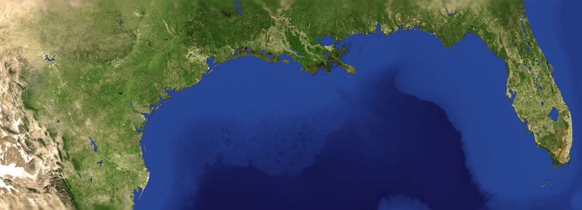 satellite image of Gulf of Mexico