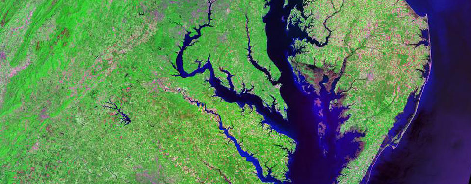 Chesapeake Bay from space