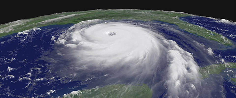 a hurricane from space