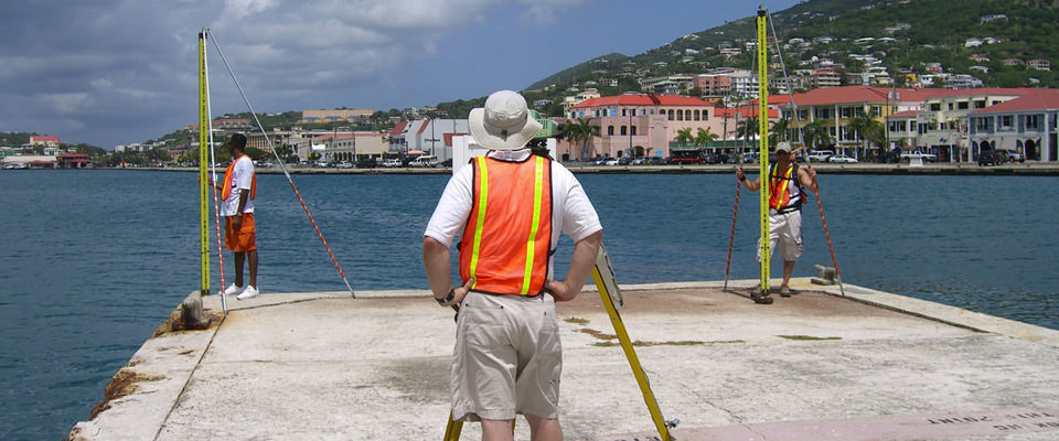 surveyors in the Caribbean