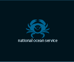 Crab illustration with NOAA logo..