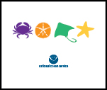 Sea creatures dollar illustration with NOAA logo..